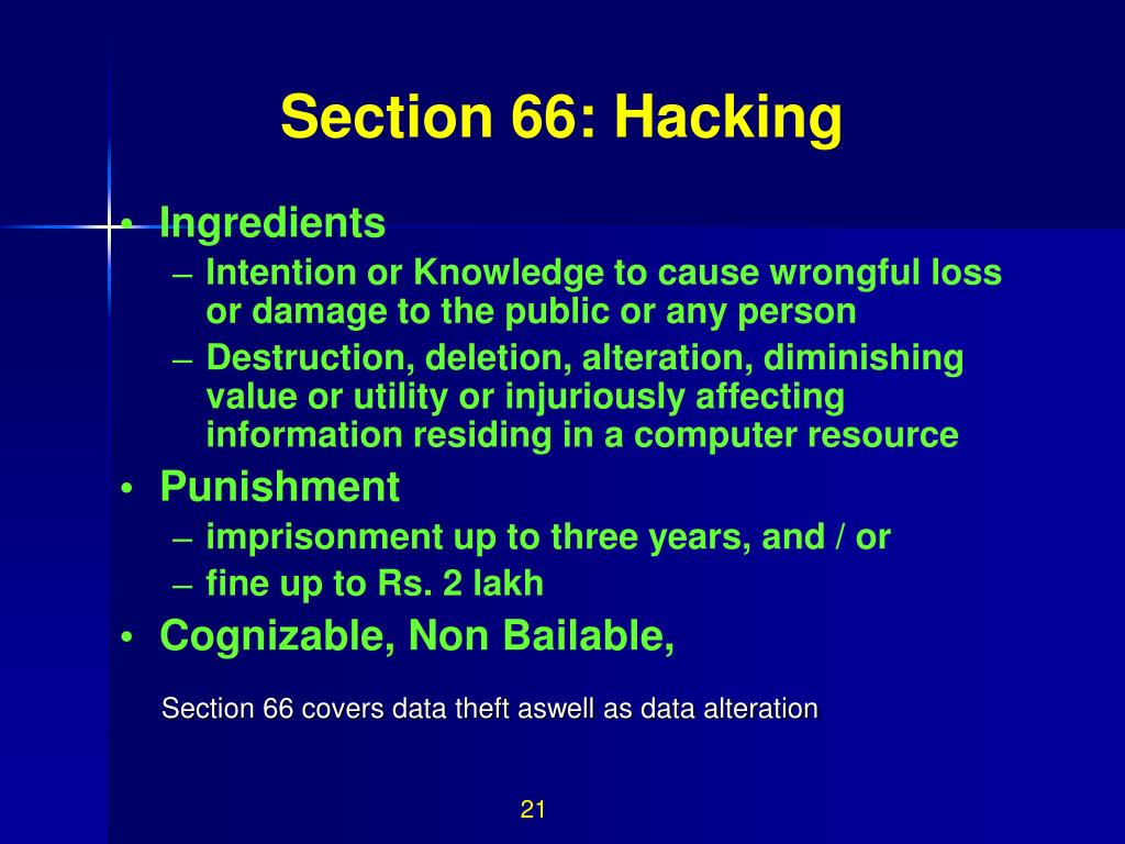 Section 66: Hacking