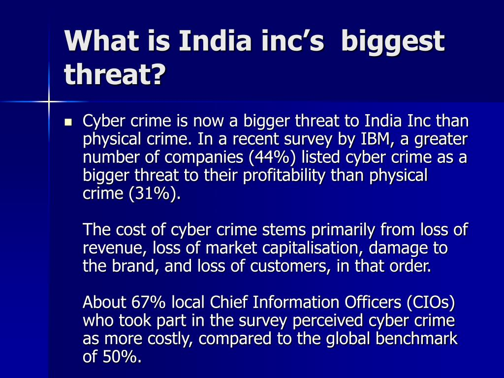 What is India inc's  biggest threat?