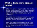 what is india inc s biggest threat