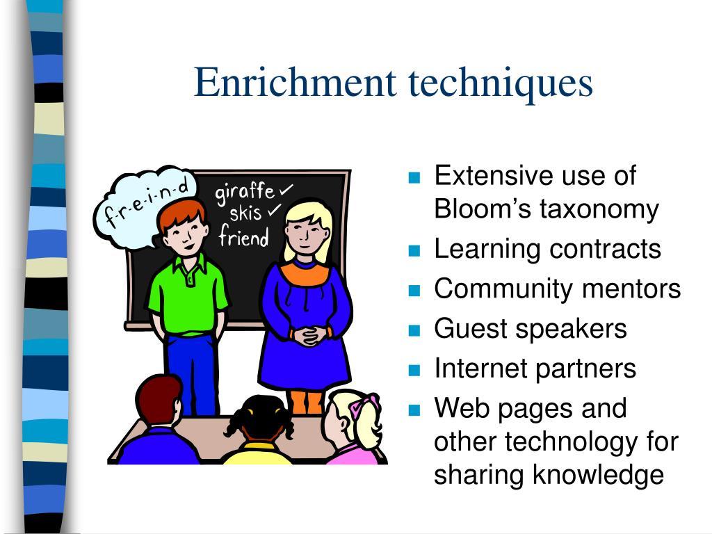 Enrichment techniques