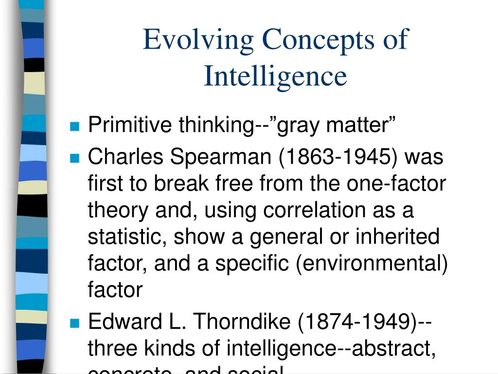 Evolving Concepts of Intelligence