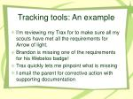 tracking tools an example