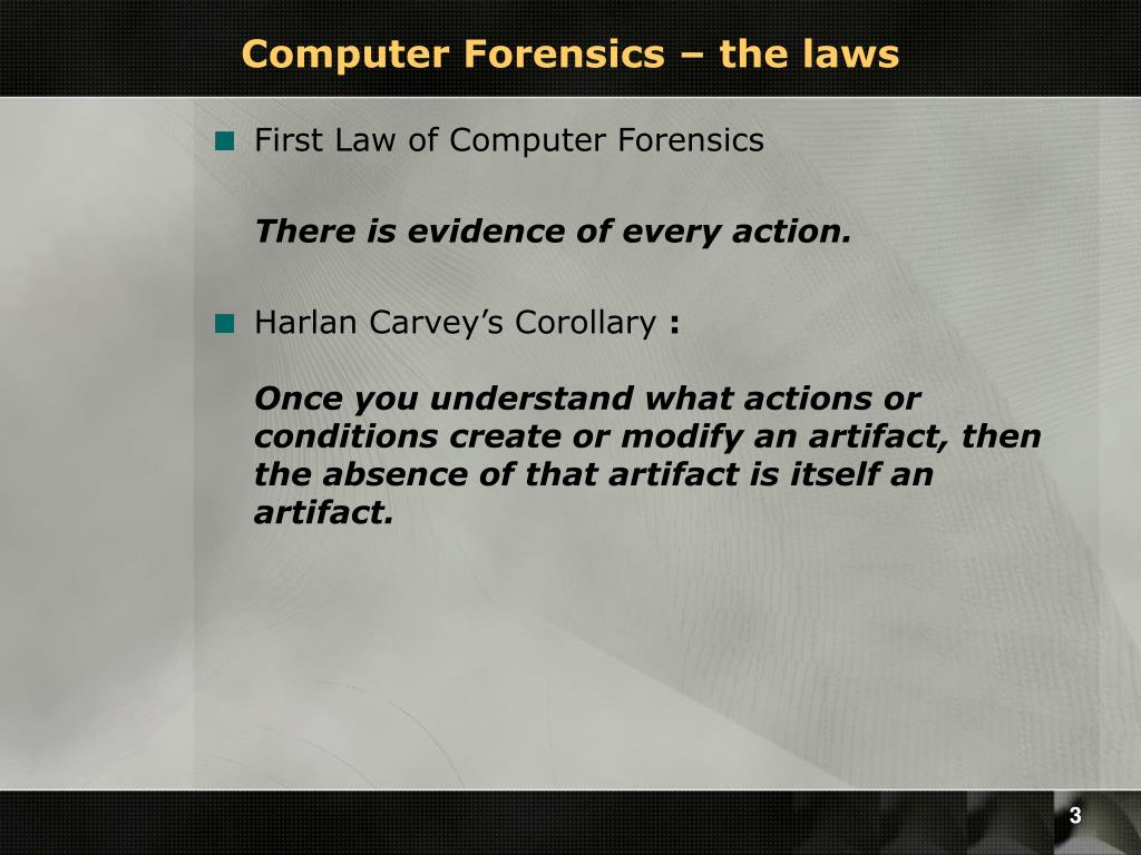 Computer Forensics – the laws