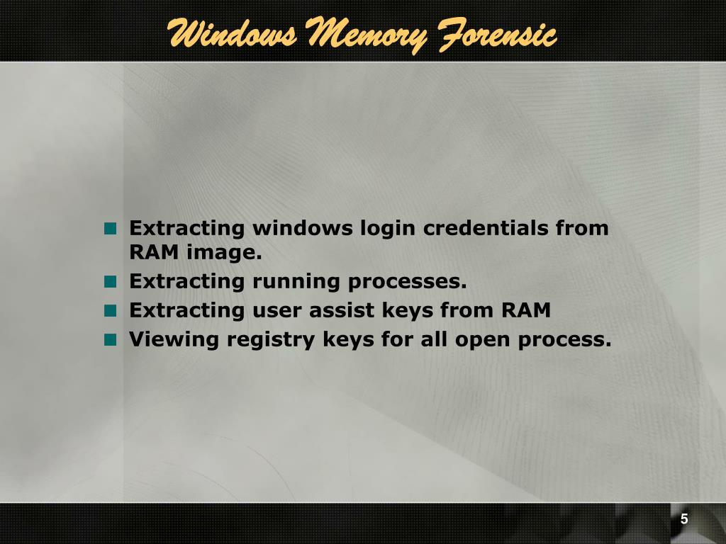 Windows Memory Forensic
