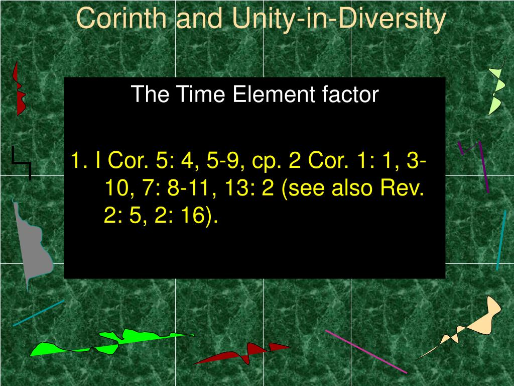 Corinth and Unity-in-Diversity