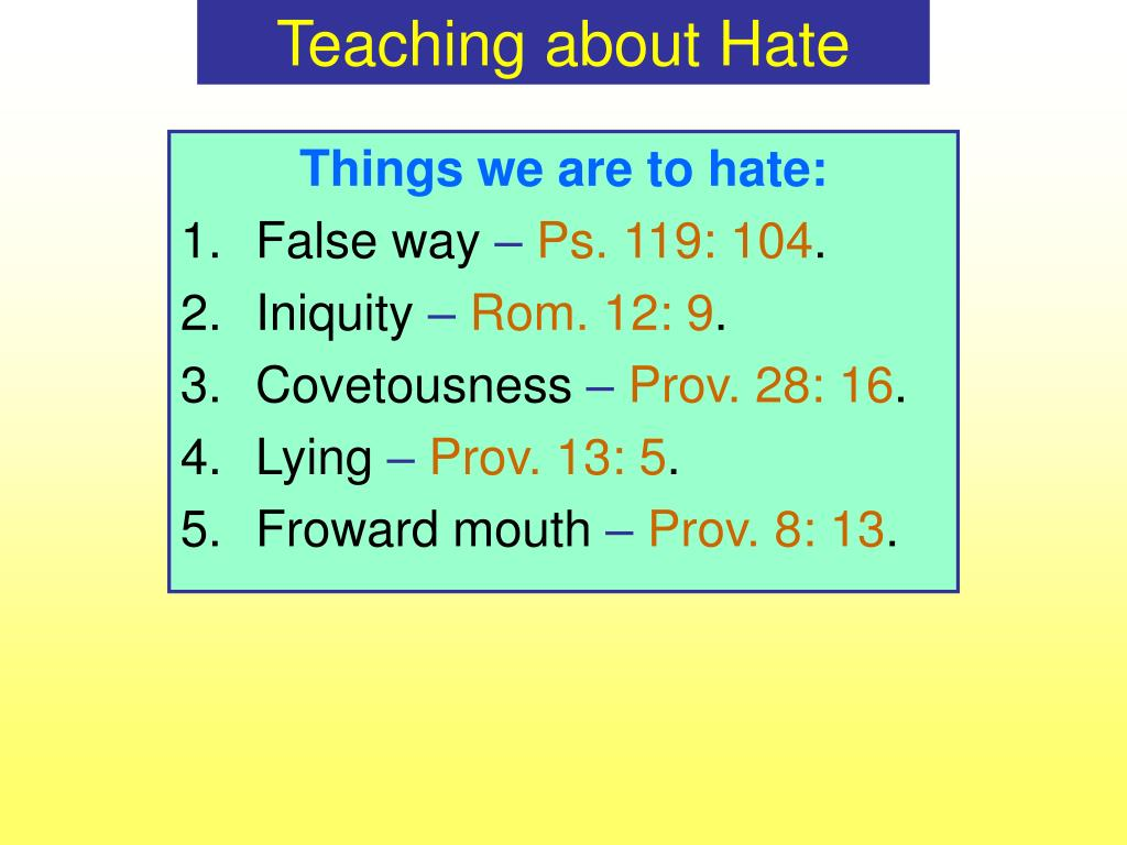 Teaching about Hate
