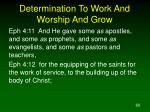determination to work and worship and grow60