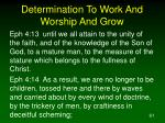 determination to work and worship and grow61