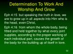 determination to work and worship and grow62