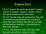 expose error31