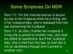 some scriptures on mdr19