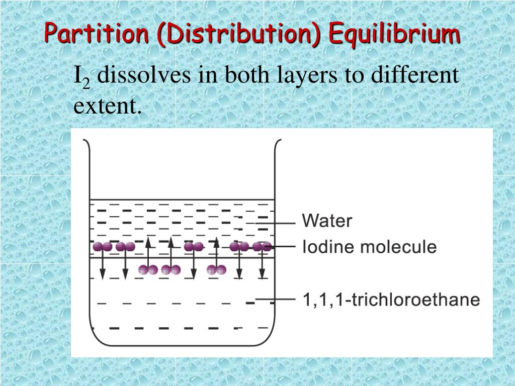 Partition (Distribution) Equilibrium