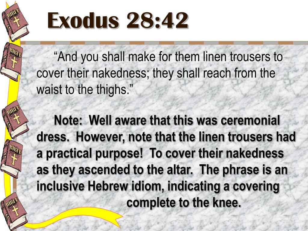 Exodus 28:42