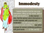 immodesty