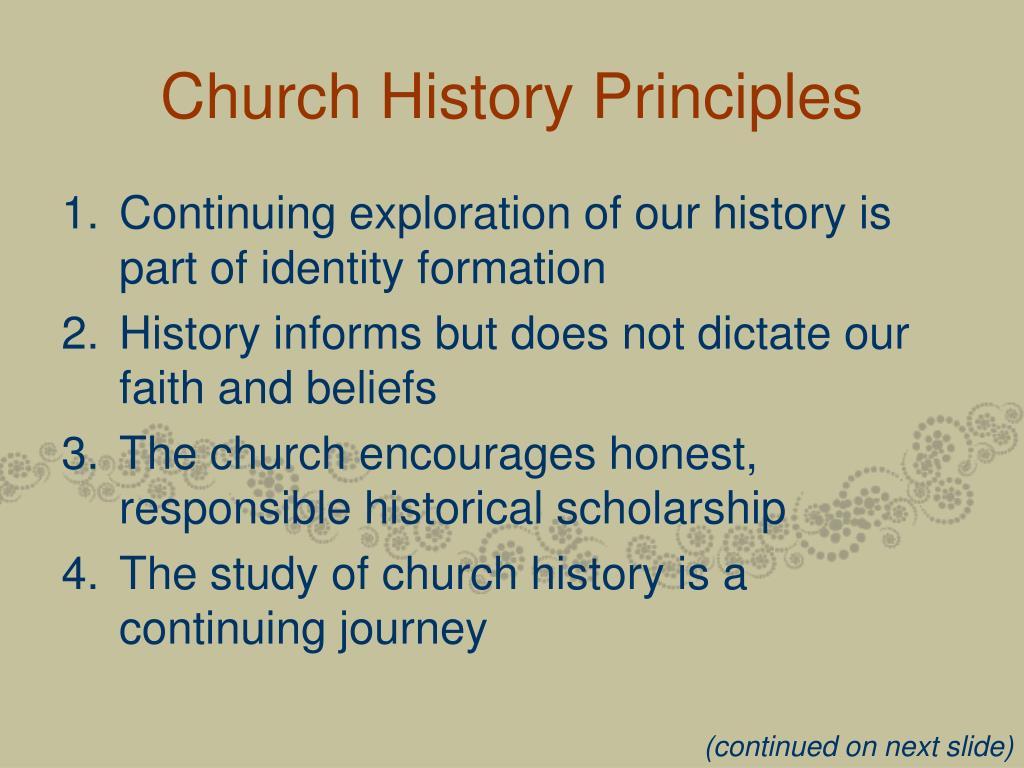 Church History Principles