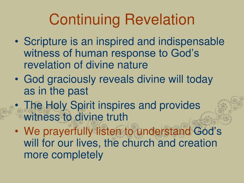 Continuing Revelation
