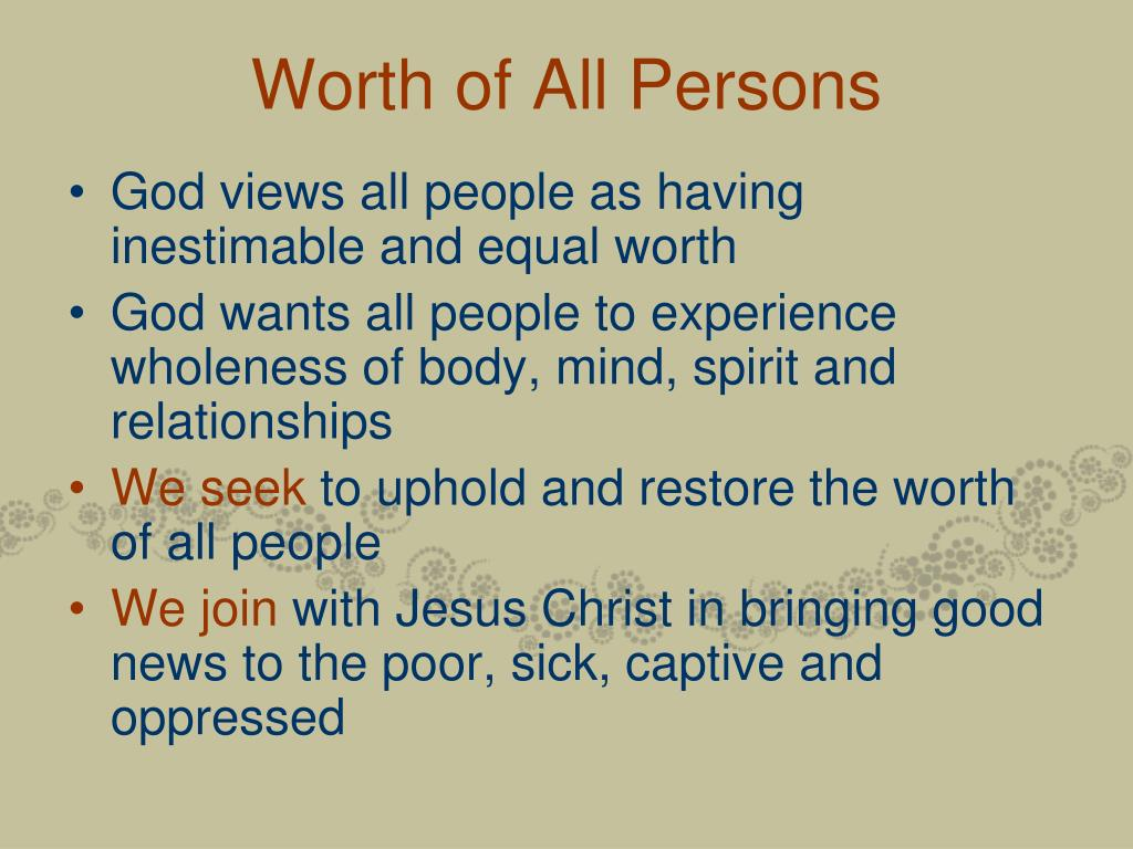 Worth of All Persons