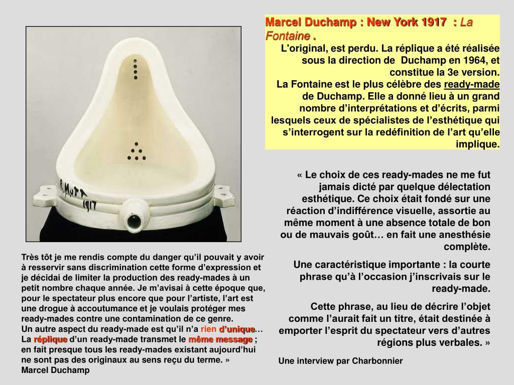 Marcel Duchamp : New York 1917  :