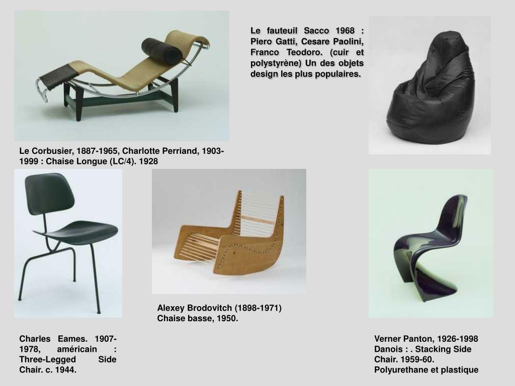 Le fauteuil Sacco 1968 : Piero Gatti, Cesare Paolini, Franco Teodoro. (cuir et polystyrène) Un des objets design les plus populaires.