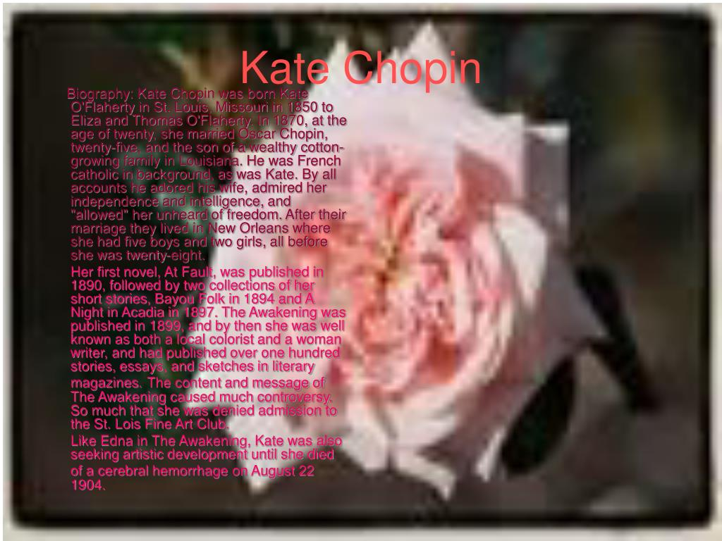 Essay about Symbols In Kate Chopin's The Awakening - Words