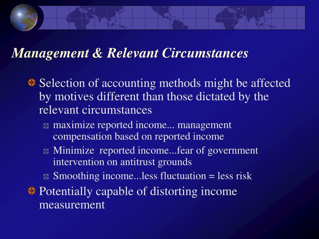 Management & Relevant Circumstances