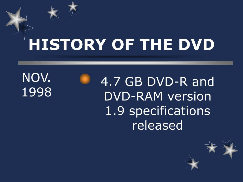 HISTORY OF THE DVD