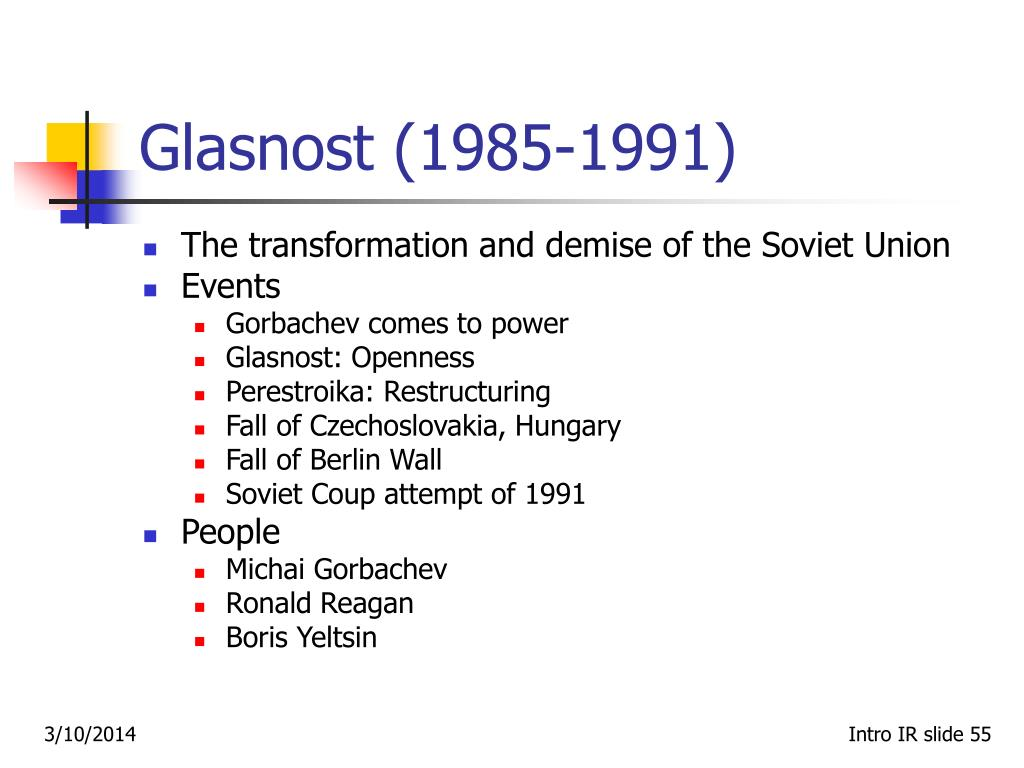 Glasnost (1985-1991)