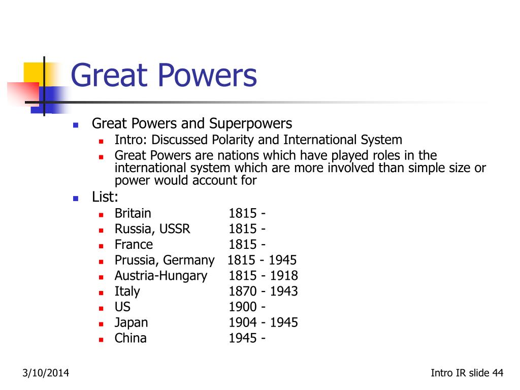 Great Powers