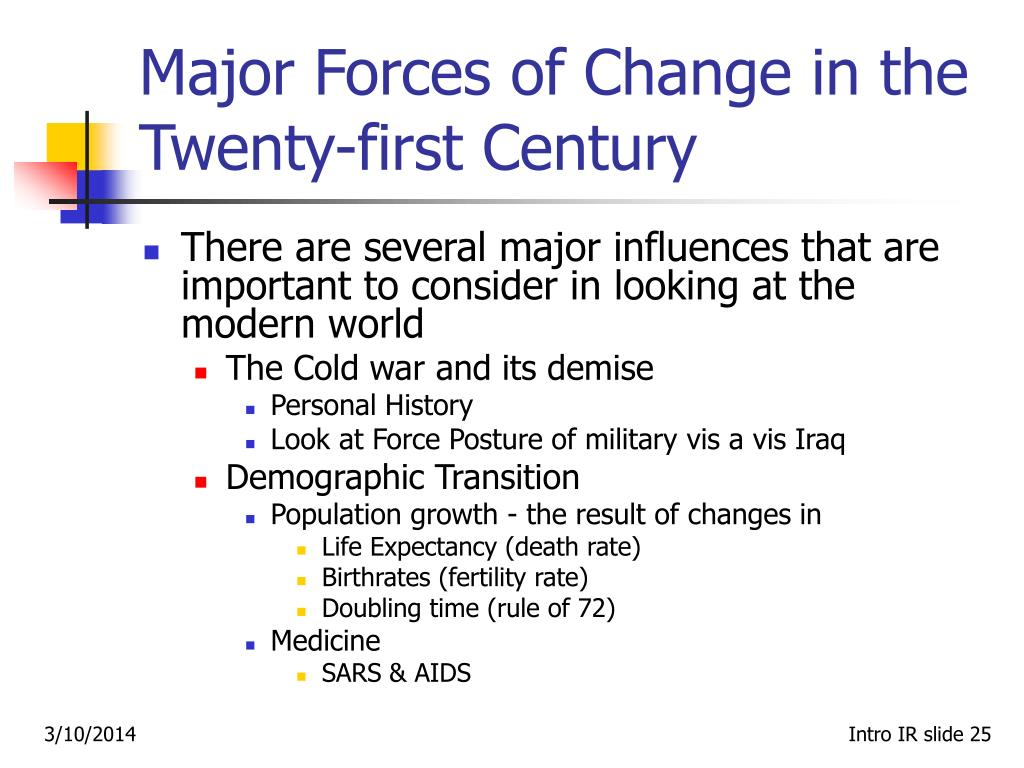 Major Forces of Change in the Twenty-first Century