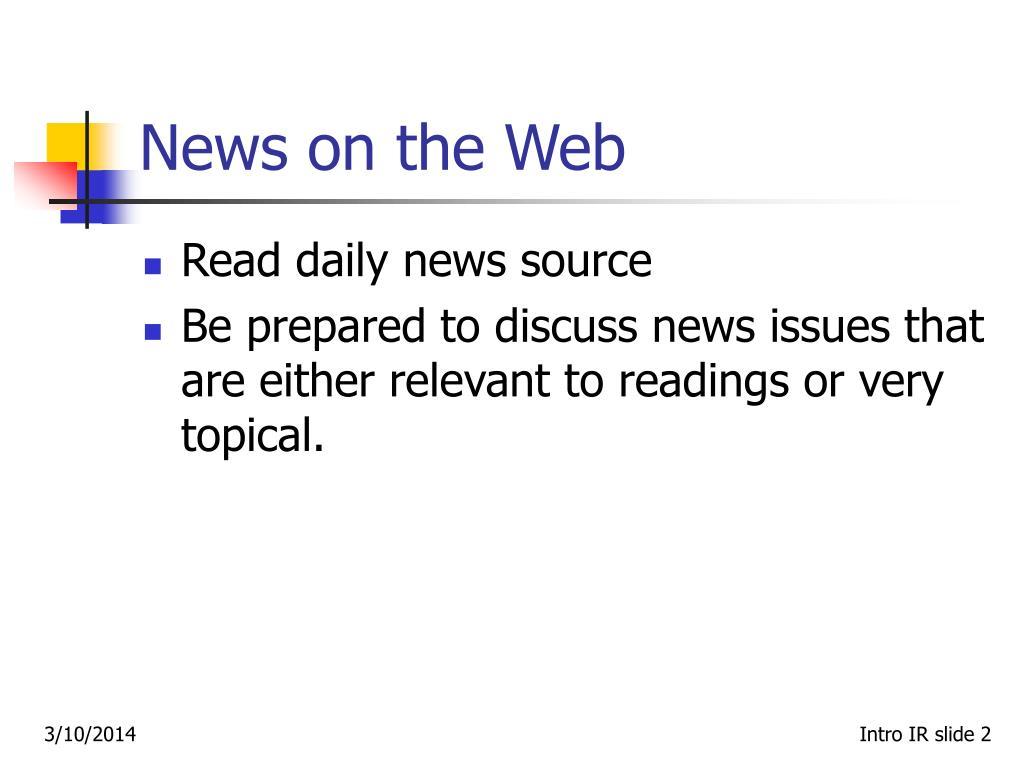 News on the Web