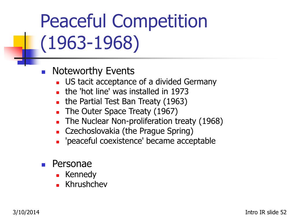 Peaceful Competition  (1963‑1968)