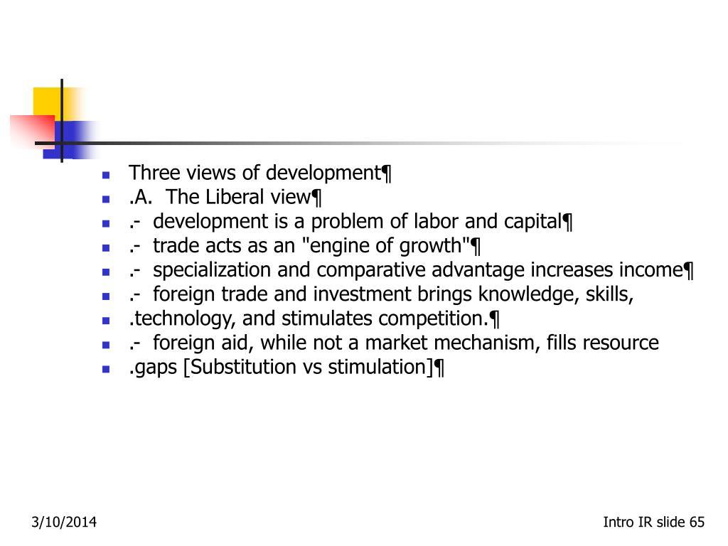 Three views of development¶