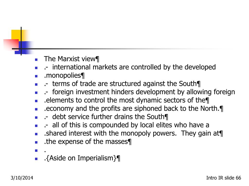 The Marxist view¶