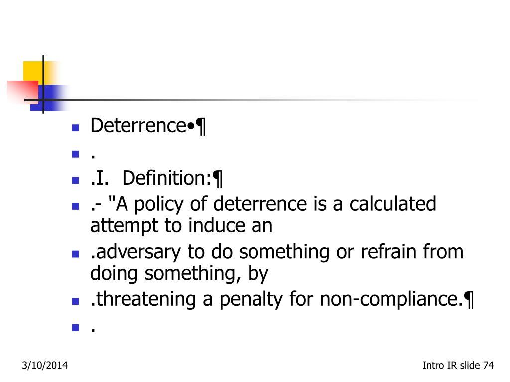 Deterrence•¶