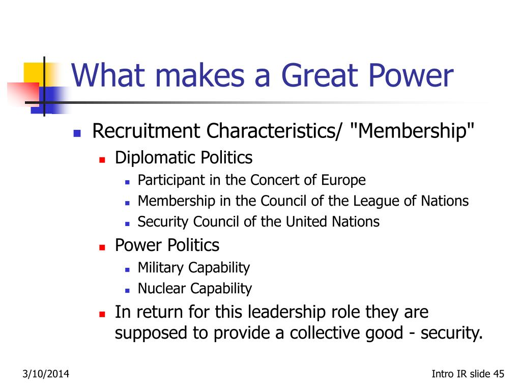 What makes a Great Power
