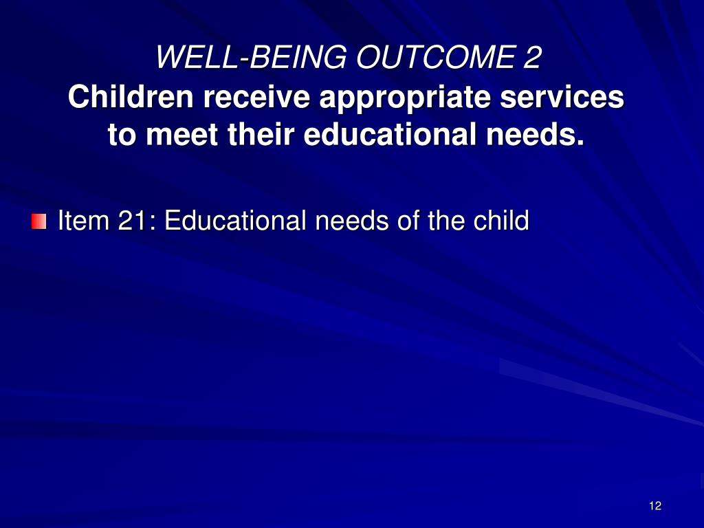 WELL-BEING OUTCOME 2