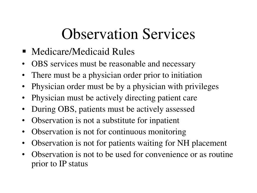Observation Services