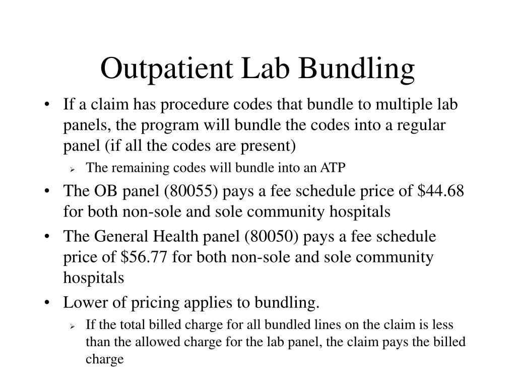 Outpatient Lab Bundling