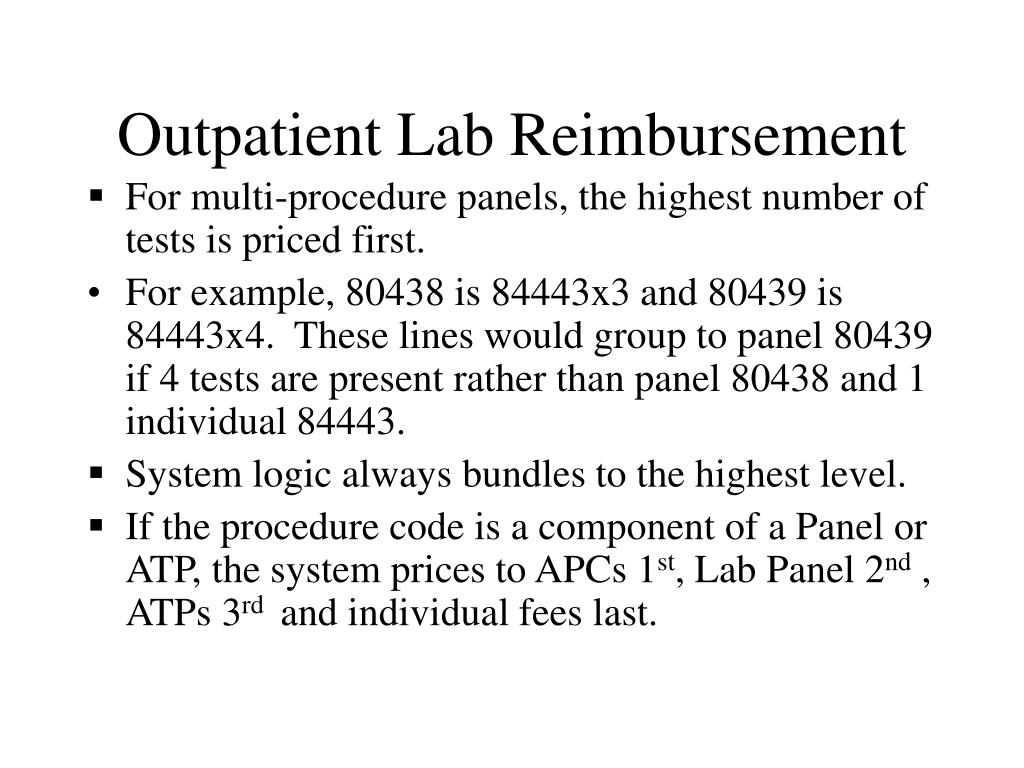 Outpatient Lab Reimbursement