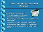 leave transfer and leave bank programs18