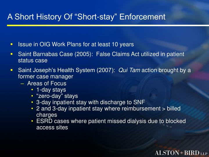 "A Short History Of ""Short-stay"" Enforcement"
