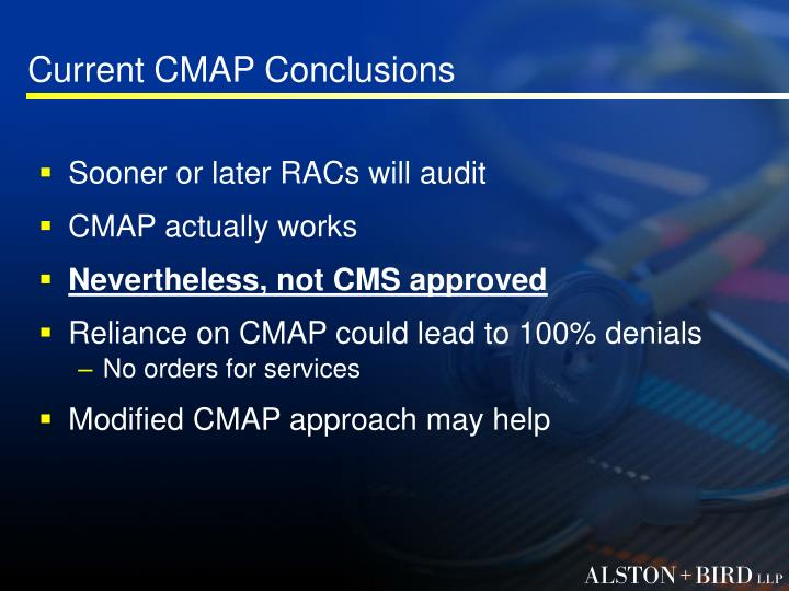 Current CMAP Conclusions