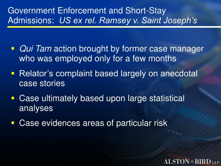 Government Enforcement and Short-Stay Admissions: