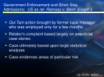 government enforcement and short stay admissions us ex rel ramsey v saint joseph s