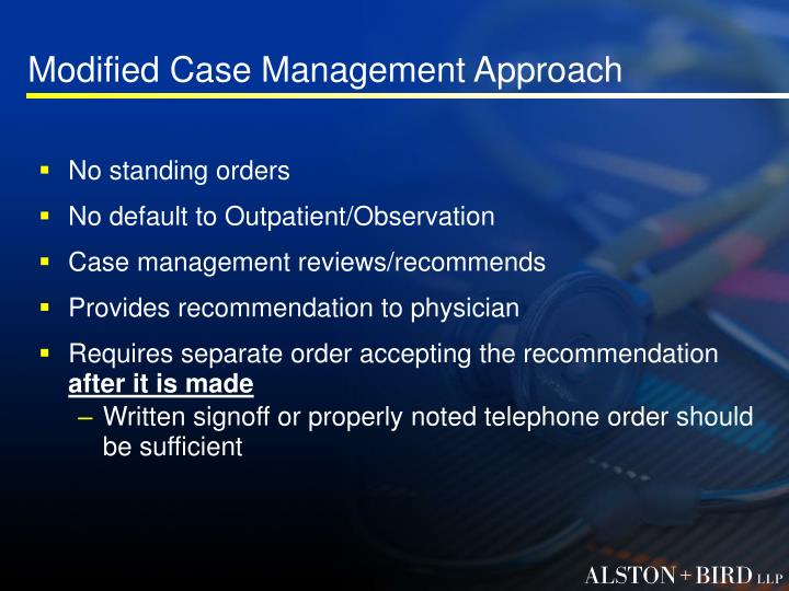 Modified Case Management Approach