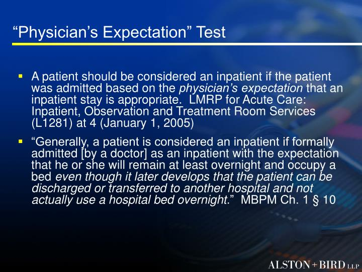 """Physician's Expectation"" Test"