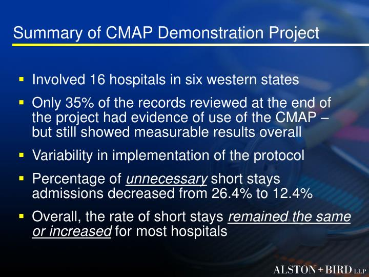Summary of CMAP Demonstration Project