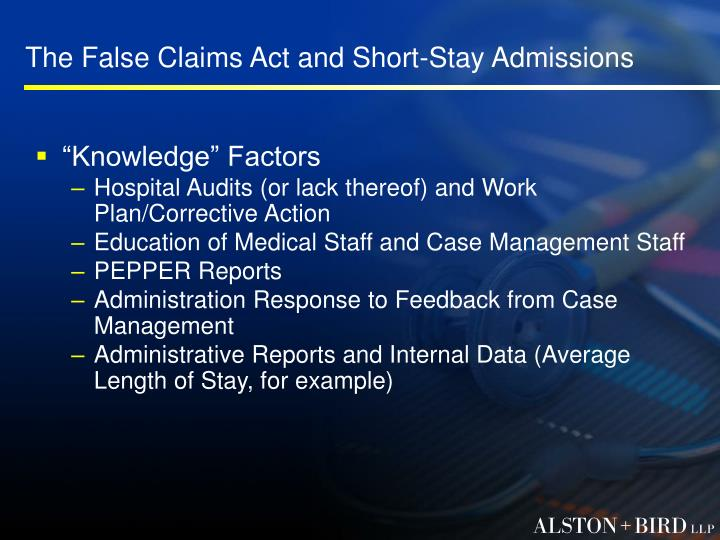 The False Claims Act and Short-Stay Admissions