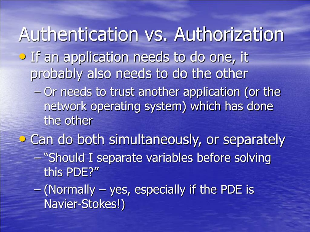 Authentication vs. Authorization