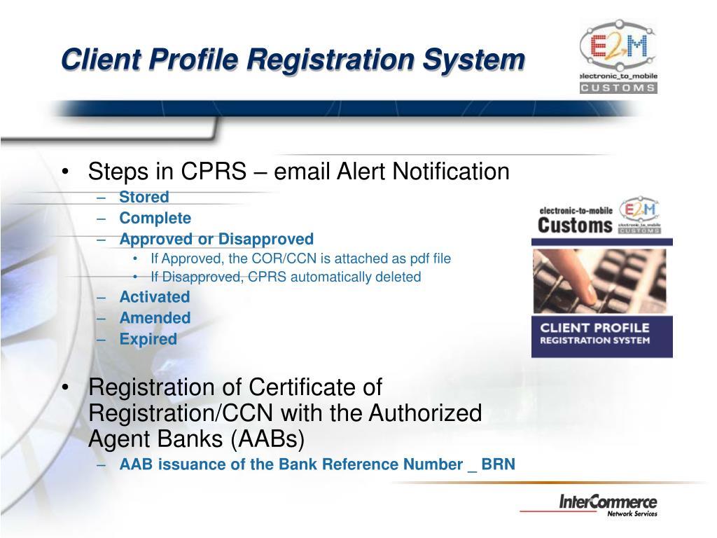 Client Profile Registration System